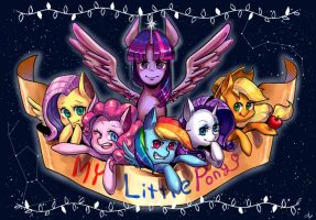 my little pony mane 6 by dddrop
