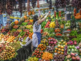 The Fruit Seller by Estruda