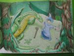 Wizard and Dragon Snake by nevet-Mano
