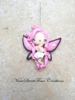 sweet pink butterfly by NinaFimoCreations