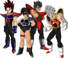 saiyan team by ShinTheDragonFighter