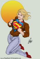 Supergirl opens shirt LuisXIII by powerbook125