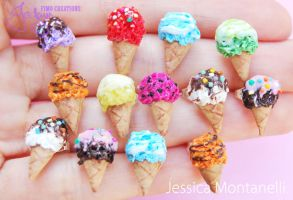 Rainbow Ice Cream Studs by Jeyam-PClay