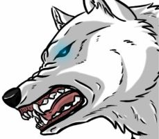 wolf snarl by wolfhound56200