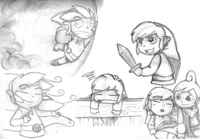 Wind Waker doodles by KeysaMoguri