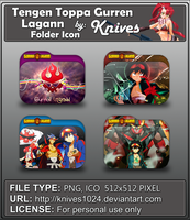 Tengen Toppa Gurren Lagann Anime Folder Icon by knives1024