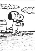 Snoopy with a letter from his parents by MarcosLucky96