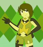 Commission: Golden Green Apatite 'GeeGee' by Strawberry-Spritz