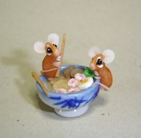 Mice and ramen by Fairiesworkshop