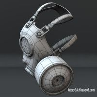Gas mask 2 by Kuzey3d