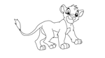simba cub lineart 16 by RinStrife