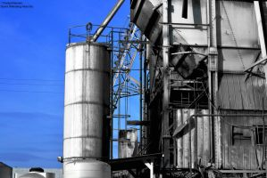 Industrial (black, white and blue) by TheSplitGemini