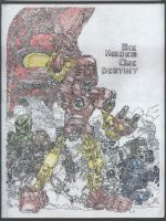 Pointillism Bionicle by crazyYoda