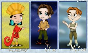 Prize: Kuzko, Jim and Milo by Tarisha