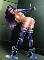 Captive 2 Psylocke rope bound by TheSaintofpain