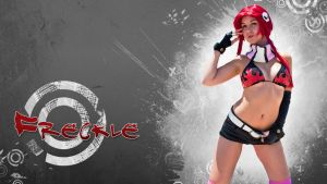 Widescreen Freckle Wallpaper by CosplayDeviants