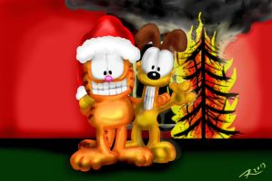Garfrield Odie are getting coal by Rene-L