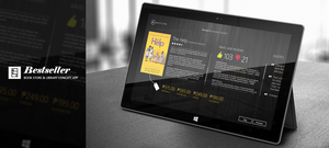 Bestseller on a Surface Tab by mattimeow