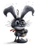 Day 680. Dust Bunny by Cryptid-Creations