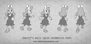 Cherry: Animation Test (Color) by RedLittleHouse