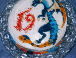 Wyvern cake by Naerko