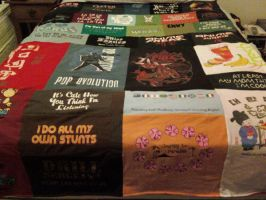T-shirt Blanket by Officially-Bored