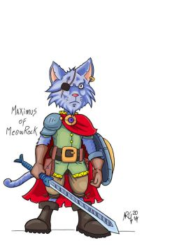 Maximus of Meowrock-Color by INKtears