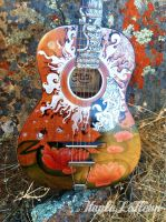 Sharpie Lotus Guitar by kaylalafleur