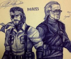 Big Boss and The Sorrow by ReaperClamp
