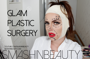 GLAM  PLASTIC  SURGERY Halloween Makeup Tutorial 2 by smashinbeauty
