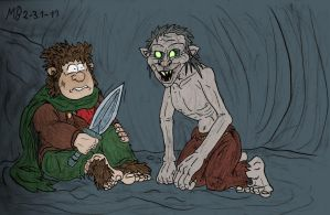 Bilbo and Gollum by Mara999