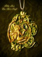 Gold Fairy charm by Gwillieth