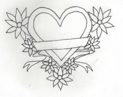 Cute Tattoo Outline Hearts Cute Sketches Of Hearts