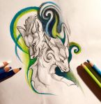 112- Dragon and Wolf Design by Lucky978