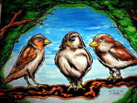 3 little birds by seanpt