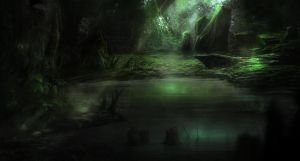 concept art : swamps by Gycinn