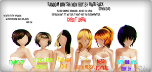 Random Boyish/Nonboyish Hair Pack+DL (COMMENT PLZ) by Idera