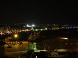 Thessaloniki at night by TheUberChezz