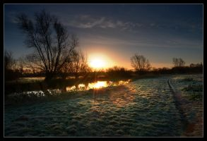 Sunrise on the River Cam 2 by MattAnth