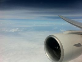 Greetings from 40000 feet by FadhilPF