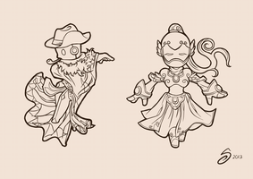 Spiral Knights - Line Art WIP by snowcube94