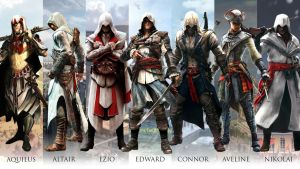 All hero in Assassin's Creed series by santap555