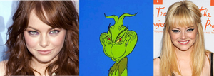 Emma Stone/The Grinch comparison by holdypause