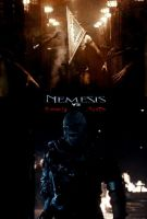 Nemesis vs Pyramid Head poster by SteveIrwinFan96
