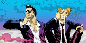 Isshin and Ichigo - Happy Fathers Day! by xXmastermintsXx