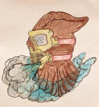 Scarecrow gas mask. by RainforestHillbilly