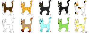 FREE Kitten Adopts 1! (Natural + Unnatural Colors) by M-The-Cellist