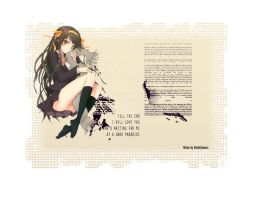 Haruhi Suzumiya on Scrap Paper Render by DarkColours
