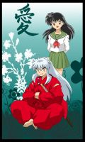 InuYasha and Kagome by gabi-s