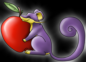 Rattata and its apple by WolfGlow